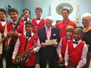 Local jazz singer and teacher Sonny LaRosa was named co-marshal of the 2013 Safety Harbor holiday parade.