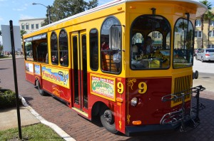 The Jolley Trolley began service in Safety Harbor on Saturday Feb. 1, 2104.