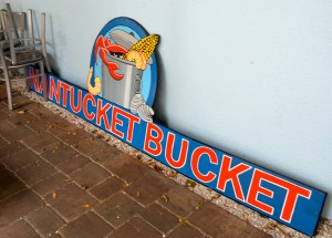 The former Nantucket Bucket is being transformed into the Harborita Cantina.