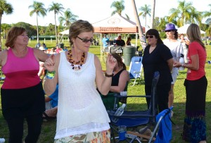 Denise Moore of Tampa dances to the Randall Bramblett Band.
