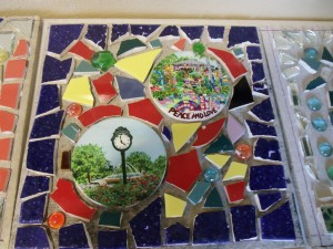 One of the tiles created at the Safety Harbor library mosaic event. Credit: SHPL