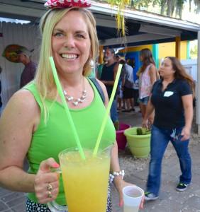 Janene Smith enjoys the Harborita Cantina's Cinco de Mayo festivities.