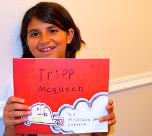 7-year-old Madison Jayanna, author of Tripp McQueen.