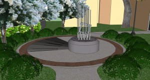 A conceptual drawing of the City's proposed 9/11 memorial. Credit: City of Safety Harbor.