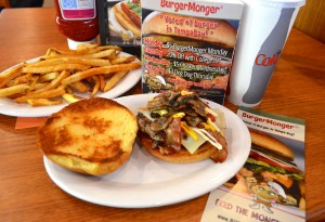 Burger Monger uses 100 percent Akaushi Kobe beef and many healthy ingredients.