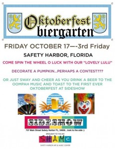 Oktoberfest on Friday, Oct. 17 will be the first event held at Sideshow. Credit: SHAMc