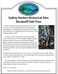 An example of the historical markers that will be placed at locations around town beginning in March 2015.