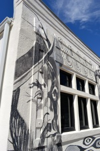 A mural was painted on the side of the Safety Harbor Chamber of Commerce building in 2013.
