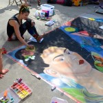Artist Katie Bush at the 2013 Safety Harbor Chalk Fest.