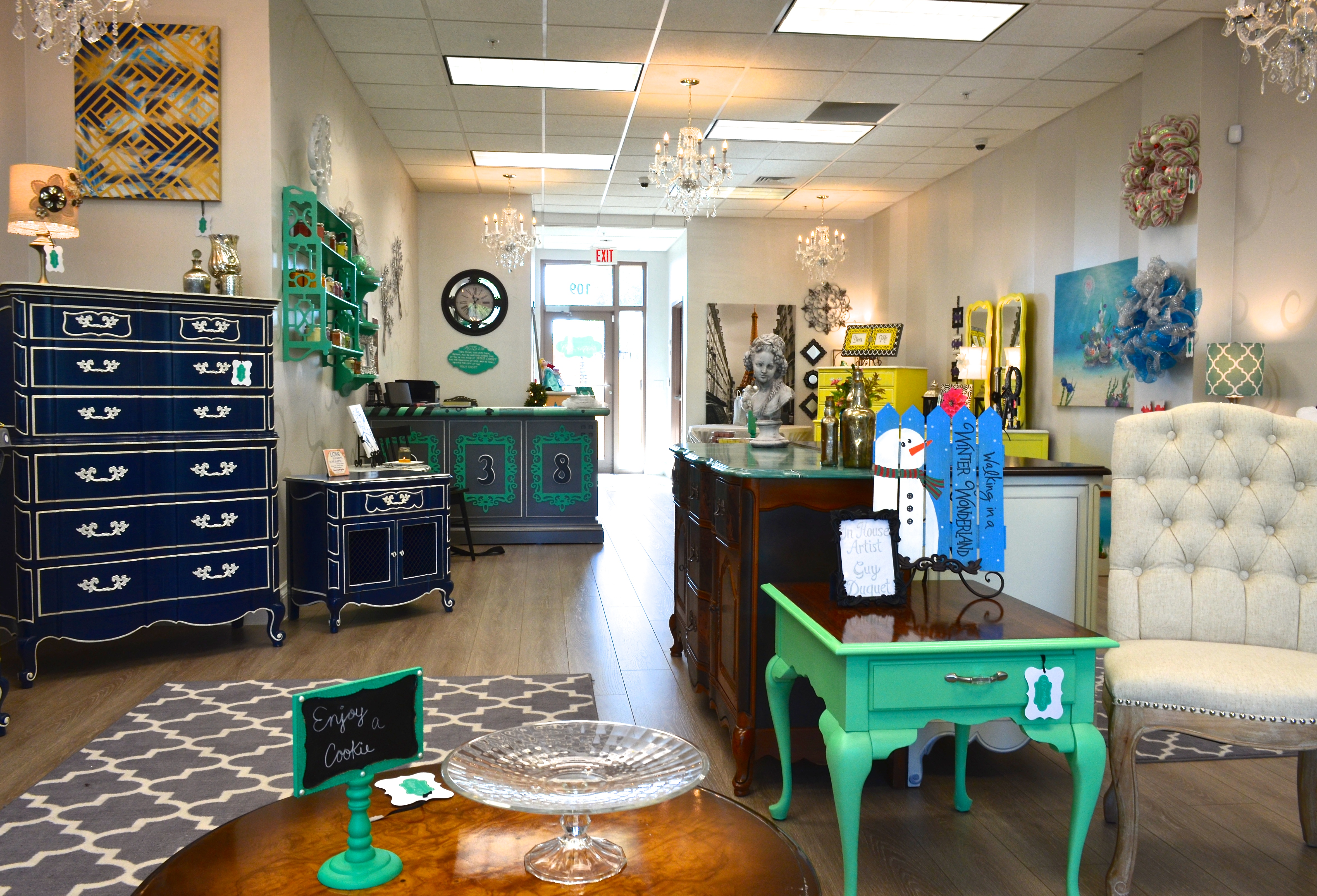 Amazing photo of Boutique 238 sells refurbished solid wood furniture as well as other  with #AD6F1E color and 4716x3209 pixels