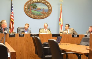 The Safety Harbor City Commission discusses the draft tree ordinance on Monday, March 2, 2015.