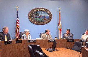 The newly configured Safety Harbor City Commission.