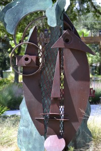 The public art piece at Mullet Creek Park will soon be replaced with a permanent sculpture.