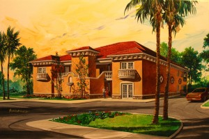 An artists rendering of the proposed resort that will be built near downtown Safety Harbor. Credit: John Mahan