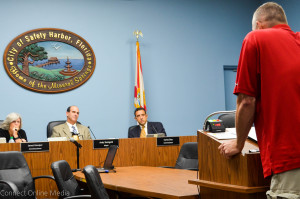 Jim Barge speaks at the Safety Harbor City Commission meeting on Nov. 2, 2015. Barge recently filed a lawsuit against Mayor Andy Steingold, among others, alleging slander stemming from an election eve incident in 2014.