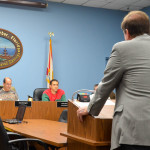 BayCare attorney Ed Armstrong speaks to the Safety Harbor City Commission on Monday, Dec. 21, 2015.