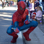 Spiderman at the 2015 Safety Harbor Holiday Parade.