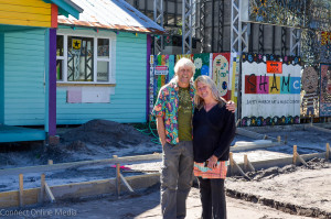 Artists Todd Ramquist and Kiaralinda stand in front of their Safety Harbor Art and Music Center.