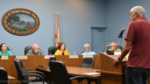 Wayne McKinney was the only resident who spoke out about the City of Safety Harbor's tree ordinance at the planning and zoning board meeting on Wednesday night.