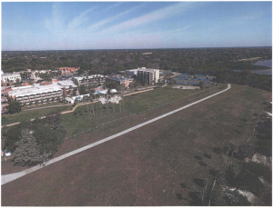 An aerial view of the recently completed work on Phase 1-A of Safety Harbor's Waterfront Park project. Credit: City of Safety Harbor.