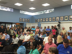 Safety Harbor City hall was filled to capacity on Monday night as dozens of residents came to speak out against a proposed zoning ordinance.