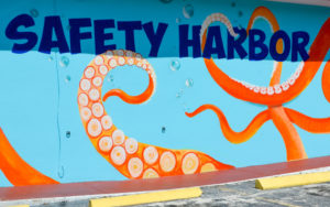 This mural, recently painted on the side of the Harbor Bar by Clearwater artist Beth Warmath, is one example of Safety Harbor's burgeoning art scene.