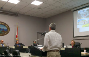 Smart growth Safety Harbor co-founder Kevin LaBrie speaks at the City Commission meeting on Sept. 6, 2016.