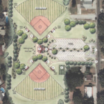 A look at a preliminary design concept for the Cedar Street softball complex. Credit: City of Safety Harbor.