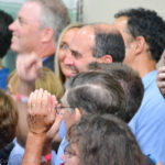 Safety Harbor Mayor Andy Steingold smiles after being acknowledged by former President Bill Clinton on Tuesday.