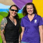 Safety Harbor Leisure Services Director Shannon Schafer with Largo artist Tanya Pistillo.