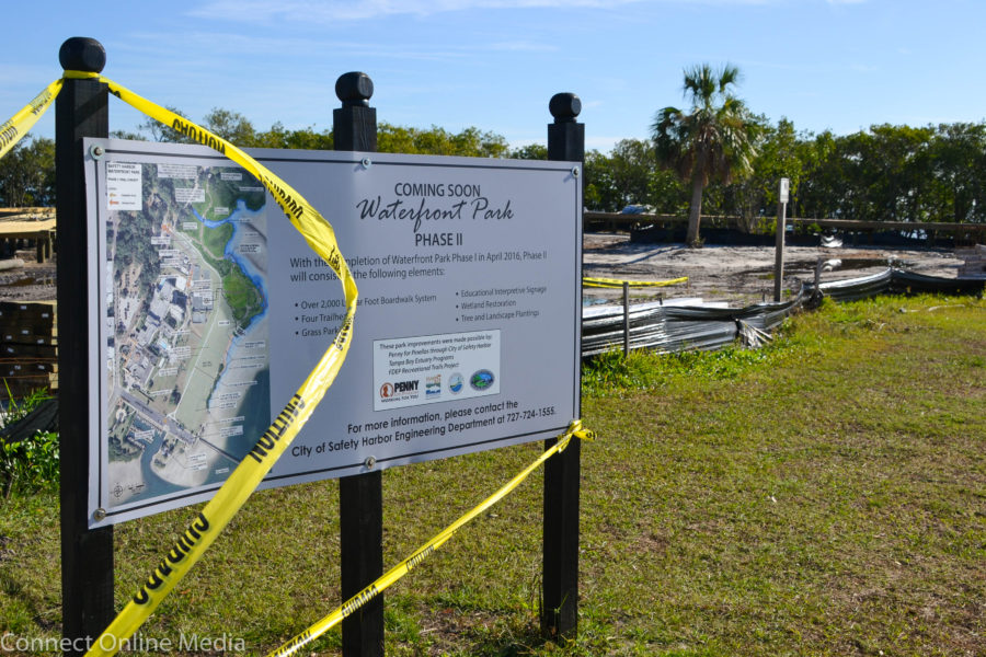 Work on Phase II of the multi-million-dollar, multi-phased Safety Harbor Waterfront Park project, which includes a 2,000 linear boardwalk and four trailheads, is ahead of schedule and should be completed in February, according to city officials.