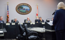 Safety Harbor Code Enforcement Board member Shelly Schellenberg addresses the City Commission on Tuesday, January 17, 2017.