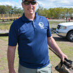 Safety Harbor Vice-Mayor Andy Zodrow got dirty during the community planting project at the Waterfront Park.