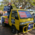 Campaign signs were everywhere during this election season, even on colorful little trucks.