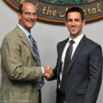 Outgoing Safety Harbor Mayor Andy Steingold and incoming Mayor Joe Ayoub shared a handshake on Monday night.