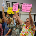 Residents showed support for Janet Hooper and Andy Steingold Monday night.