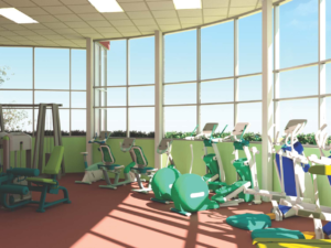 An artist's rendering of interior of the 2,700-sq.-ft. fitness center that is being proposed for the Safety Harbor Community Center. (Graphic: Cardno)