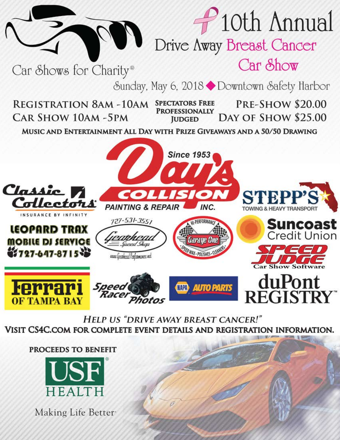 Drive Away Breast Cancer This Sunday In Safety Harbor Safety - Car show event insurance