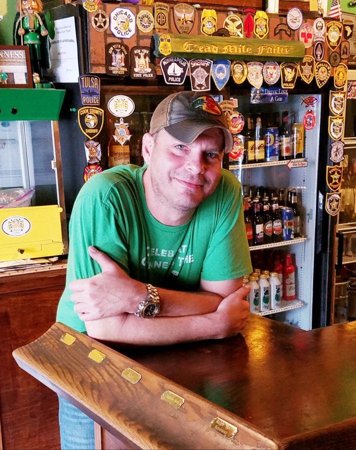 Dean Harkey, new owner, Nolan's Pub
